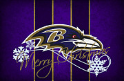 Sports Greeting Cards Framed Prints - Baltimore Ravens Framed Print by Joe Hamilton