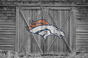 Offense Photo Framed Prints - Denver Broncos Framed Print by Joe Hamilton