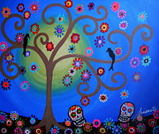 Tree Paintings - Dia De Los Muertos by Pristine Cartera Turkus