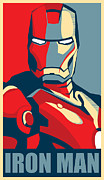 Photomonatage Digital Art Posters - Iron Man Poster by Caio Caldas