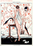 Parisienne Drawings Framed Prints - 1920s France La Vie Parisienne Magazine Framed Print by The Advertising Archives