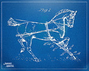 Drawn Digital Art - 1900 Horse Hobble Patent Artwork by Nikki Smith