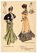 1901 Digital Art Posters - 1901 - John Wanamaker Fashion Advertisement - Color Poster by John Madison