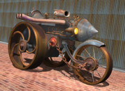 Rivets Art - 1901 Steam Trike by Stuart Swartz