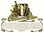 1907 Digital Art Prints - 1903 - Columbia Motor Carriage Advertisement Print by John Madison