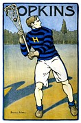 John Hopkins University Prints - 1905 - Johns Hopkins University Lacrosse Poster - Color Print by John Madison