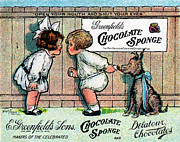 American Food Paintings - 1905 Chocolate Candy Ad by Historic Image