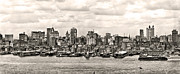 Nyc Digital Art Metal Prints - 1906 Manhattan Panorama Metal Print by Unknown