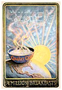 Oatmeal Posters - 1906 - Quaker Oats Cereal Advertisement - Color Poster by John Madison