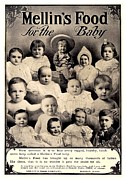 1907 Digital Art Prints - 1907 - Mellins Baby Food Advertisement Print by John Madison