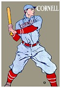 1901 Digital Art Posters - 1908 - Cornell University Baseball Poster - Color Poster by John Madison