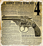 Caliber Framed Prints - 1908 Revolver Ad Framed Print by Cheryl Young