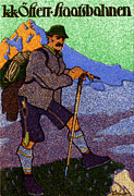 Historicimage Paintings - 1910 Austrian Hiking Poster by Historic Image