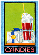 American Food Paintings - 1910 Candies by Historic Image