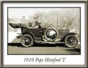 Pope Framed Prints - 1910 Pope Hartford T Framed Print by Jill Reger
