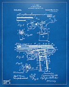 1911 Automatic Firearm Patent Artwork - Blueprint Print by Nikki Marie Smith
