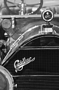 Roadster Grill Posters - 1911 Cadillac Roadster Grille and Hood Ornament Poster by Jill Reger
