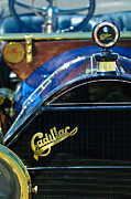 Car Photos Prints - 1911 Cadillac Roadster Hood Ornament Print by Jill Reger