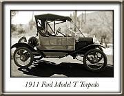 1911 Ford Model T Torpedo Print by Jill Reger