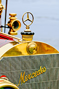 Photographs Framed Prints - 1911 Mercedes 50 HP Maythorn Tourer Hood Ornament Framed Print by Jill Reger