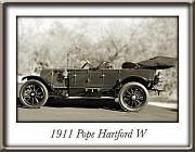 Pope Prints - 1911 Pope Hartford W Print by Jill Reger
