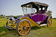 Up And Coming Prints - 1913 Argo Electirc Model B Roadster Purple Print by Marcia Colelli