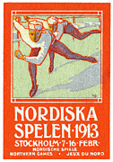 Historicimage Paintings - 1913 Nordic Games Poster by Historic Image