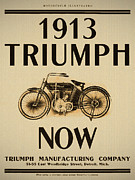 Now Digital Art - 1913 Triumph Now by Digital Reproductions