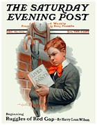 Magazine Cover Digital Art - 1914 - Saturday Evening Post Magazine Cover - December 26 - Color by John Madison