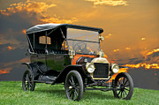 Ford Model T Car Posters - 1914 Ford Model T Touring Car Poster by Dave Koontz