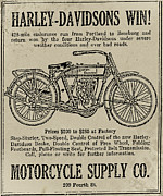 Endurance Posters - 1914 Harley Davidson Endurance Run Poster by Bill Cannon