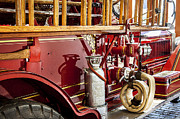 Fire Department Photos - 1915 LaFrance Fire Truck by Rich Franco