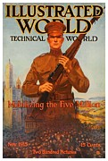 World War One Digital Art - 1915 - November - Illustrated World - Technical World - Magazine Cover by John Madison