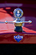 Hoodies Photo Framed Prints - 1915 Saxon Roadster Hood Ornament Framed Print by Jill Reger