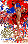 Patriotism Paintings - 1915 Unified Italy Poster by Historic Image