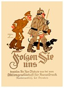 World War One Digital Art - 1916 - Lugwig Hohlwein  - Hohlwein Folgen Sie Uns - German Poster - Color by John Madison