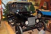 Ford Model T Car Posters - 1917 Ford Model T Touring 5D25581 Poster by Wingsdomain Art and Photography