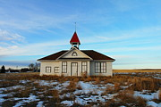 Yesteryear Photos - 1918 Schoolhouse Macabe Montana by Jeff  Swan