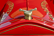 Vintage Hood Ornament Metal Prints - 1919 Ford Volunteer Fire Truck Metal Print by Jill Reger