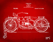 Nikki Marie Smith - 1919 Motorcycle Patent Red