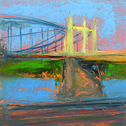 Cityscape Painting Metal Prints - RCNpaintings.com Metal Print by Chris N Rohrbach