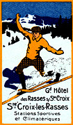 Historicimage Paintings - 1920 St. Croix Winter Sports by Historic Image