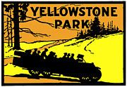 National Parks Paintings - 1920 Yellowstone Park by Historic Image