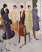 Clothes Clothing Drawings - 1920s Fashion  1925 1920s Uk Womens by The Advertising Archives