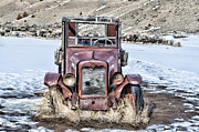 Bannack State Park Framed Prints - 1920s International Truck Framed Print by Fran Riley