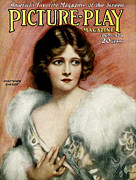 Cinema Drawings Prints - 1920s Uk Picture Play  Magazine Cover Print by The Advertising Archives