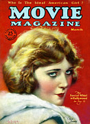 Cinema Drawings Prints - 1920s Usa Movie Magazine Magazine Cover Print by The Advertising Archives