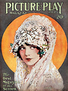 Headdresses Art - 1920s Usa Picture Play Magazine Cover by The Advertising Archives