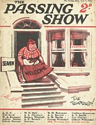Holidays Drawings Prints - 1920s,uk,the Passing Show,magazine Cover Print by The Advertising Archives