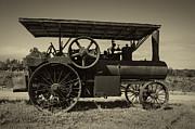 1921 Aultman Taylor Tractor Print by Debra and Dave Vanderlaan